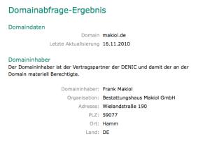 Domainabfrage-Ergebnis der denic - denic.de