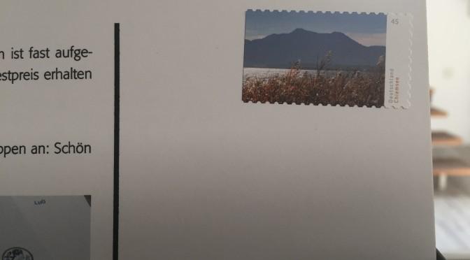 Briefmarke auf MaxiCard