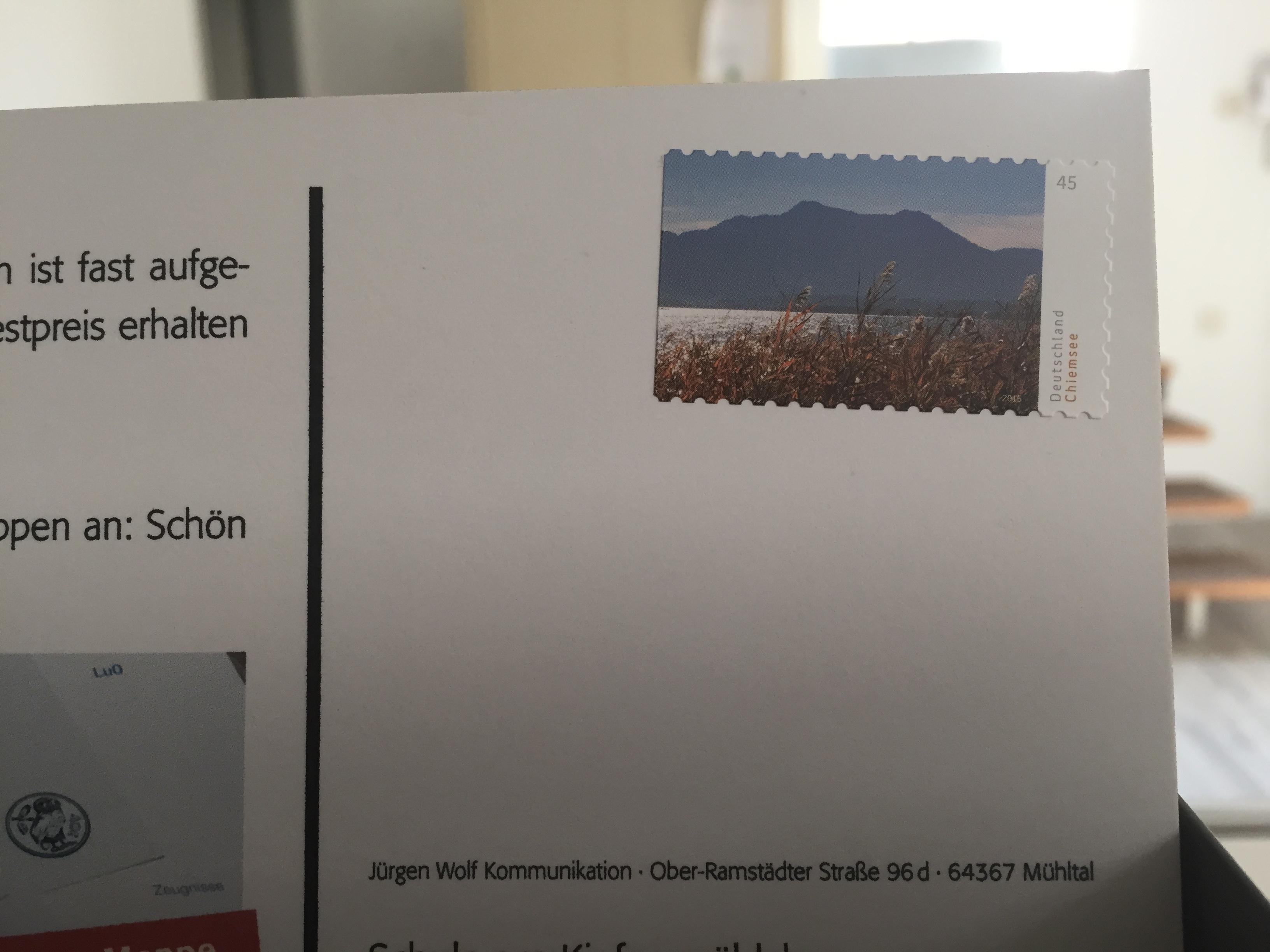 Briefmarke Klebt Schief Worschtsupp
