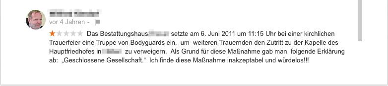 """Empfehlung - 1. Kommentar: Verriss wegen """"geschlossener Gesellschaft"""""""