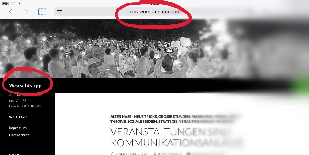 Startseite blog.worschtsupp.com