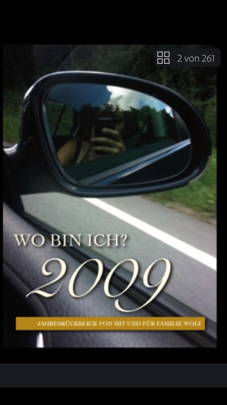 """Buchtitel """"Wo bin ich? 2009"""""""