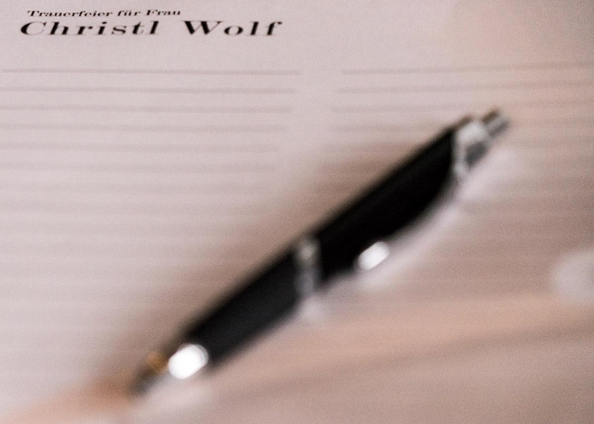 Trauer - Kondolenzliste Christl Wolf